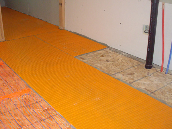 Orange Mat Under Tile Tile Design Ideas